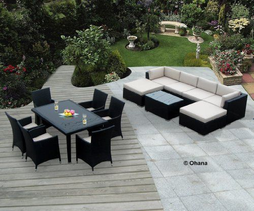 accessories for a garden furniture Set genuine ohana outdoor sectional sofa and dining wicker patio furniture set ZSHEBOC