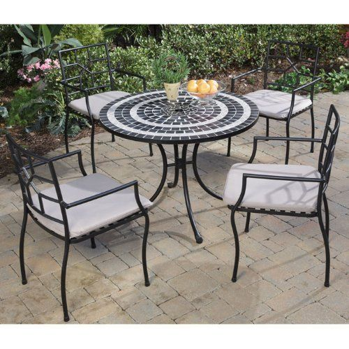 accessories for a garden furniture Set home styles delmar table cambria chairs outdoor dining set, black HOJXRBA