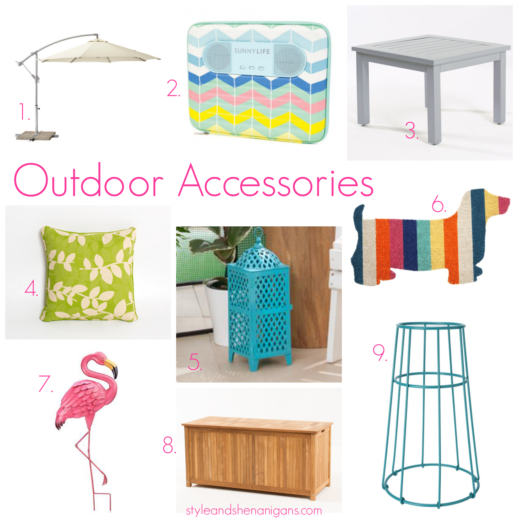 Accessories for garden furniture style and shenanigans outdoor accessories GLLMNXX