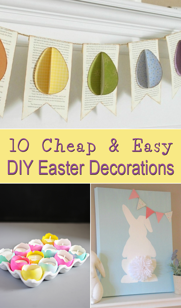 cheap easy easter decorations 10 cheap u0026 easy diy easter decorations HMRSVFI