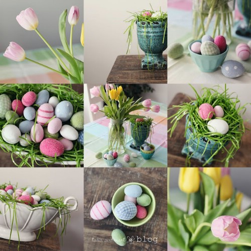 cheap easy easter decorations bunny garland - 80 fabulous easter decorations you can make yourself JCWPXNJ