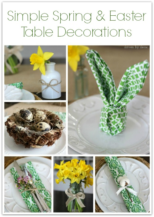 cheap easy easter decorations simple ideas for decorating your spring or easter table DUEAUXA