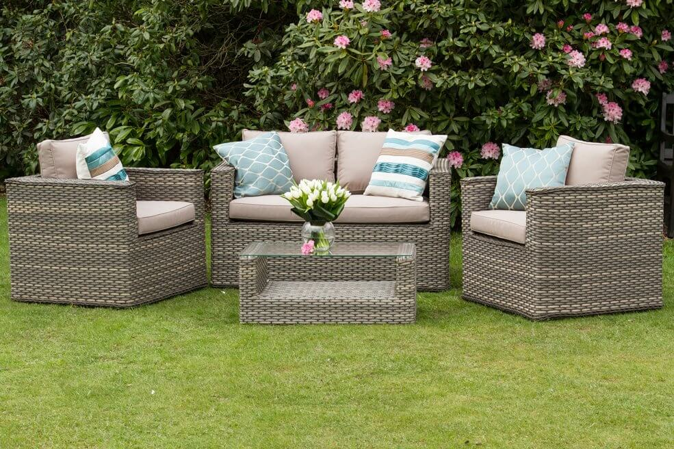 cheap garden furniture sets best natural cappuccino rattan garden sofa furniture bahia modus set  intended UYJXRZH