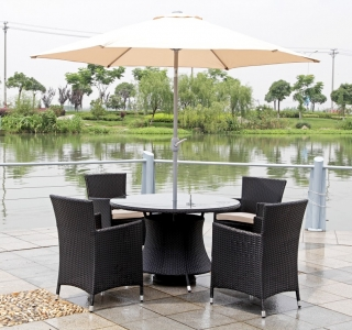 cheap garden furniture sets brown outdoor garden furniture set with 4 chairs and a parasol JHFFBJB