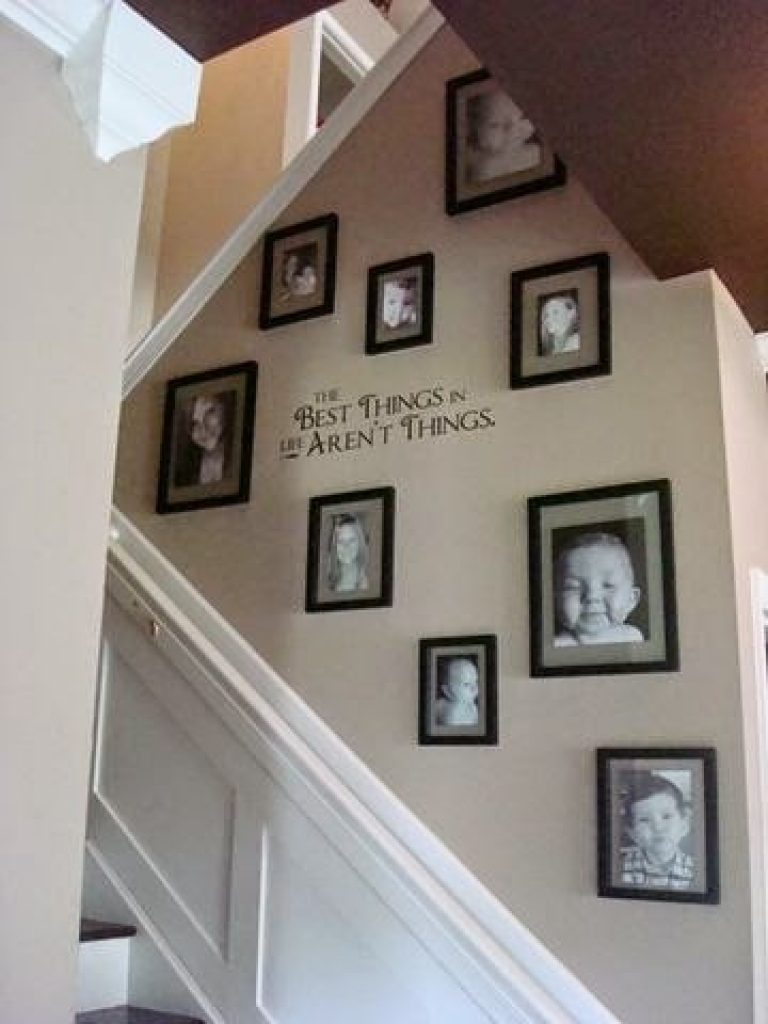 decorate stairs ideas decorating staircase wall 50 creative staircase wall decorating ideas art  frames OTVPSBR