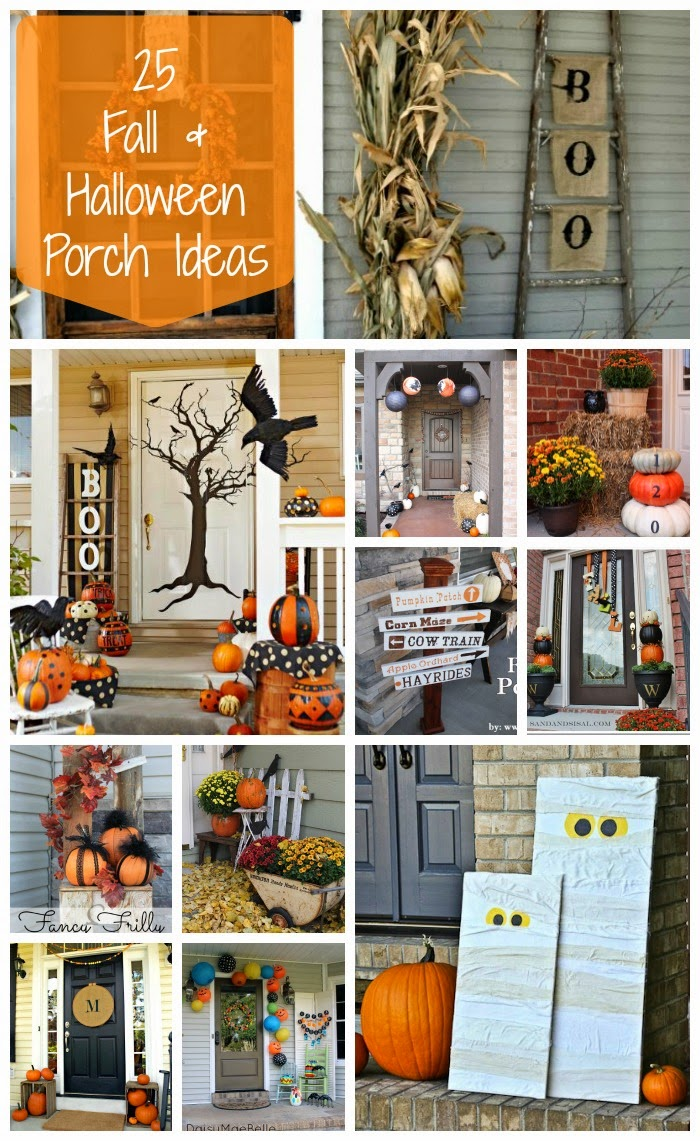 decorating ideas for halloween front porch 25 fall u0026 halloween front porch decorating ideas | a glimpse inside RTVSJSU