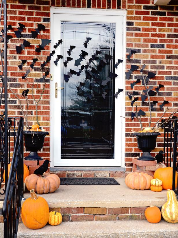 decorating ideas for halloween front porch quick-and-easy halloween front porch update | hgtv VMABIHY
