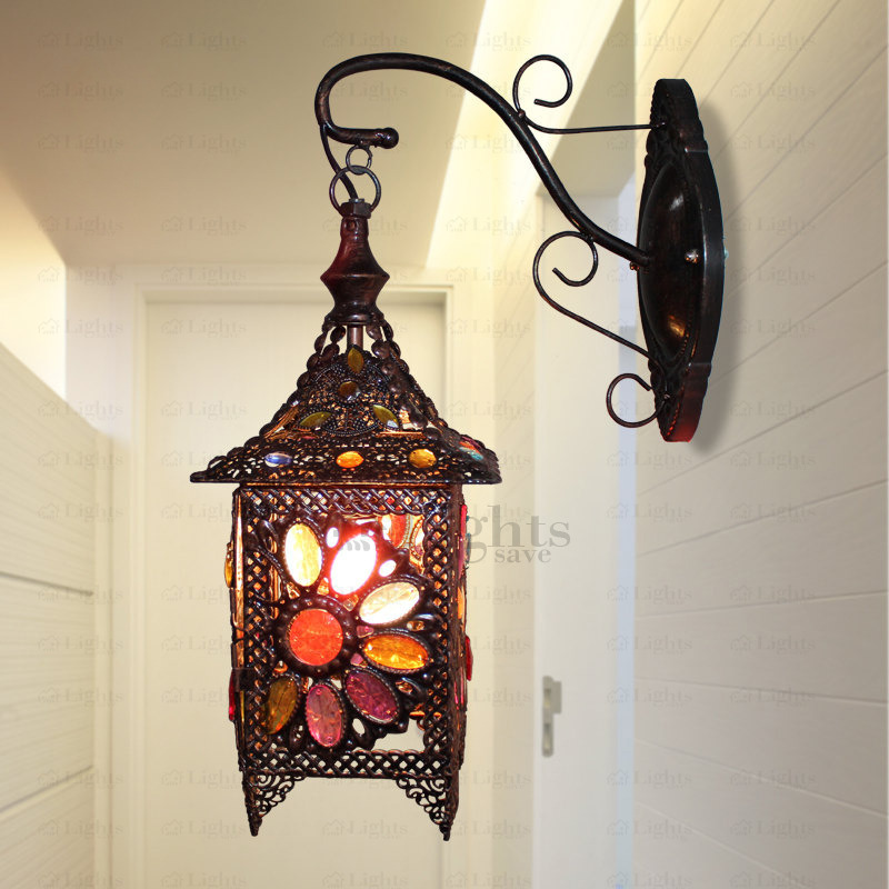 decorative wall lamps southeast asia style decorative wall sconce antique wrought iron GNBPOIT