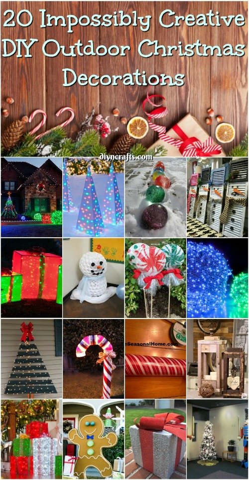 diy ideas for christmas decorations 20 impossibly creative diy outdoor christmas decorations {brilliant ideas} BFZCPZZ