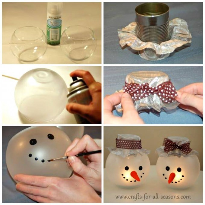 diy ideas for christmas decorations diy snowman candle holders...these are the best homemade christmas  decorations u0026 LMUCXBF