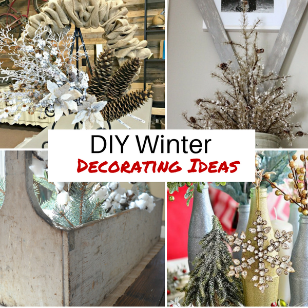 diy winter decorating ideas | diva of diy SHMNPRV