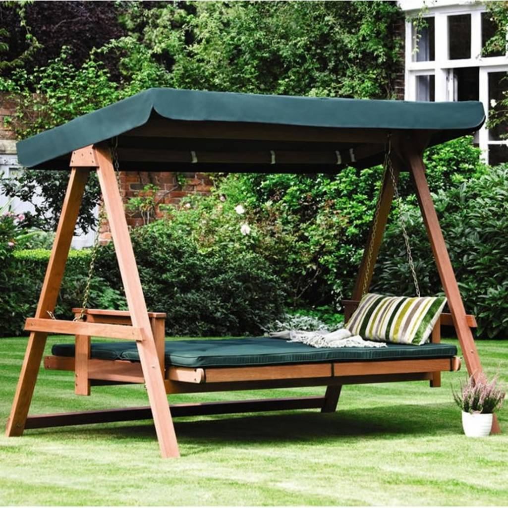 Floating Bed for garden this is a perfect garden day bed.the green colour contrasting with the DOSKWOY