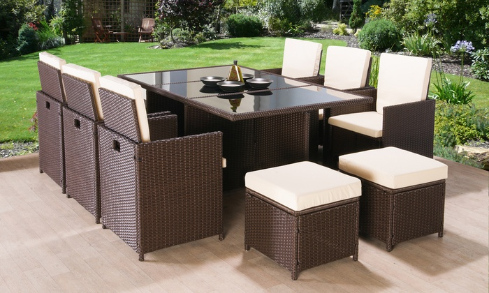 Garden furniture made of poly rattan poly-rattan garden furniture set ... EENZYBA
