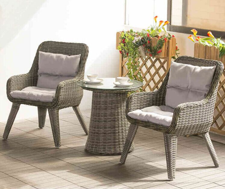 Garden Lounge Furniture factory direct sale wicker patio furniture lounge chair chat set small OTYKAOK
