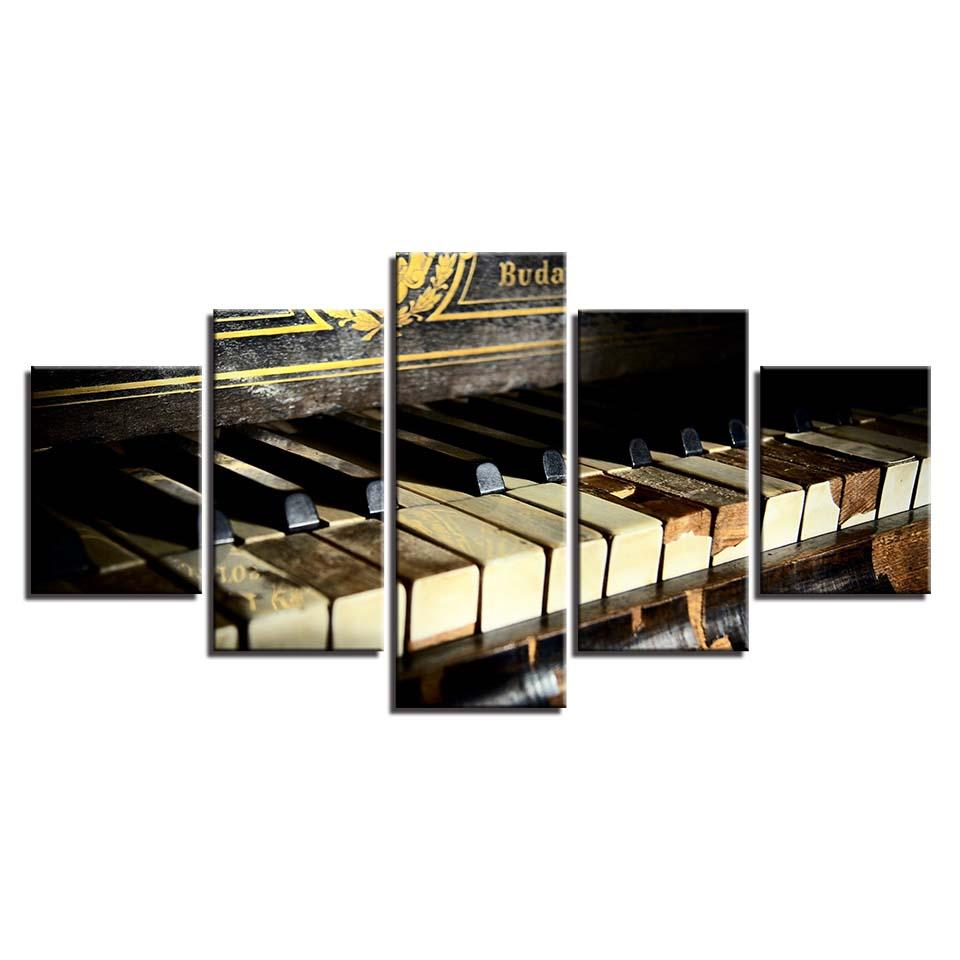 panel shelves for musical decoration old classic piano keys music wall art canvas panel print framed unframed XIPKTGK