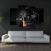 panel shelves for musical decoration wall art painting 4 panel print on the music of the band MJZGWPU