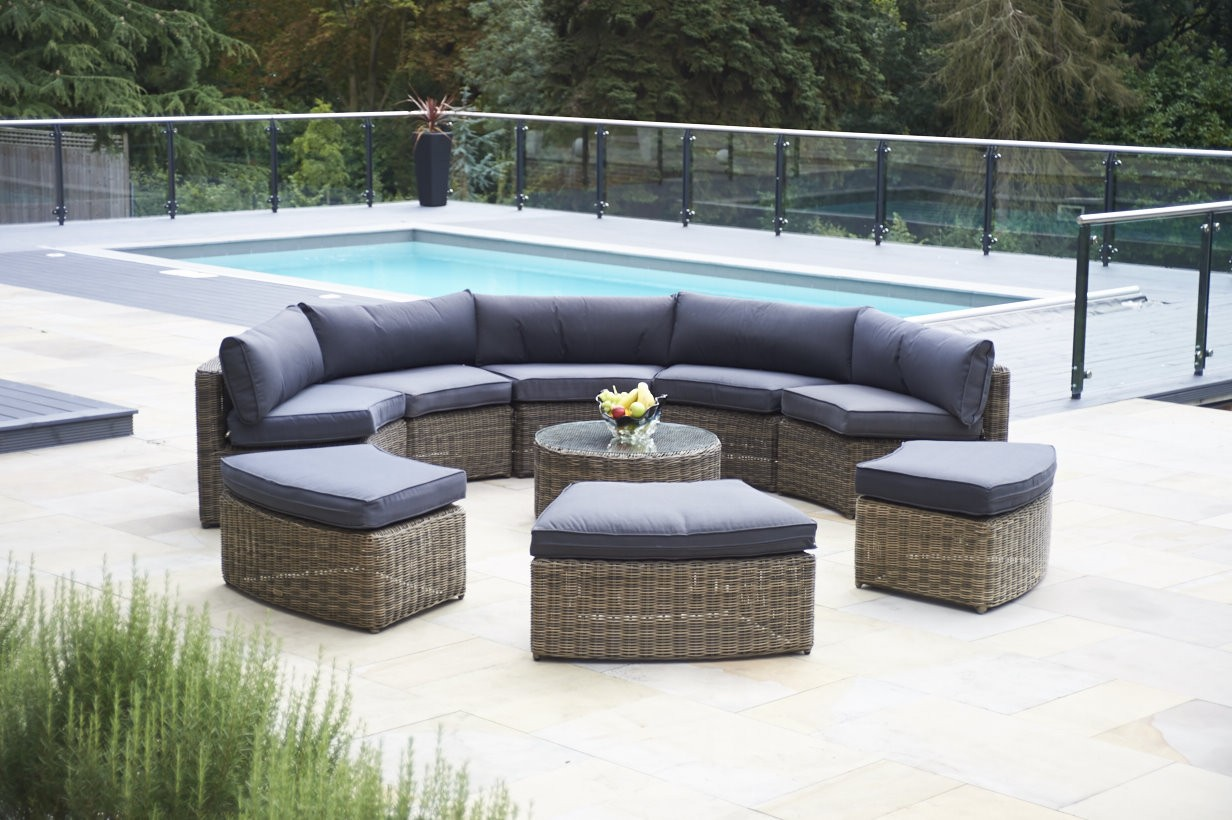 polyrattan Lounge Seating group rattan outdoor lounge furniture rattan look garden furniture poly rattan  garden LIQOKCL