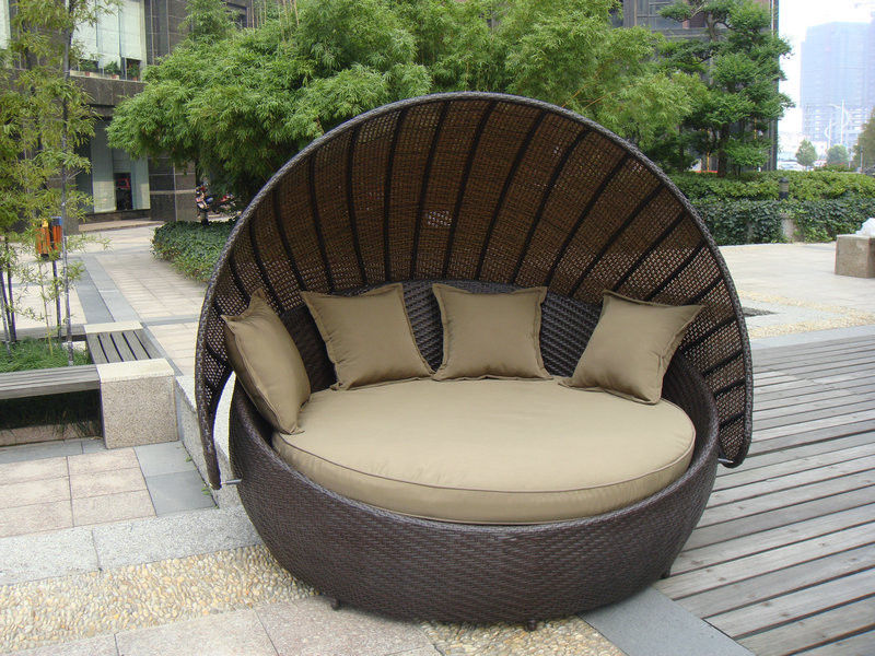polyrattan Lounge Seating group rattan type outdoor furniture wicker garden sofa set brown rattan garden AOARNHQ