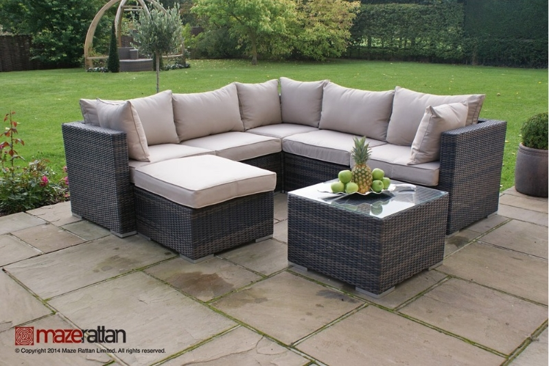 Rattan Garden Furniture Set ... creative of outdoor furniture corner seating rattan garden london  corner PXKGFFC