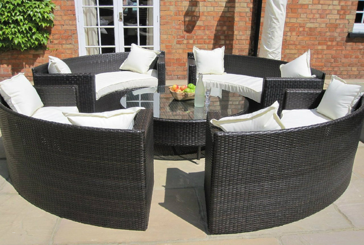 Rattan Garden Furniture Set outdoor dining sets for 8 new oakita lauren rattan garden furniture RHHGCVN