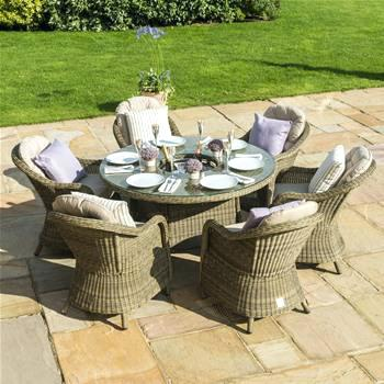 Rattan Garden Furniture Set rattan outdoor furniture maze rattan 6 round armchair garden furniture set MQGRTTO