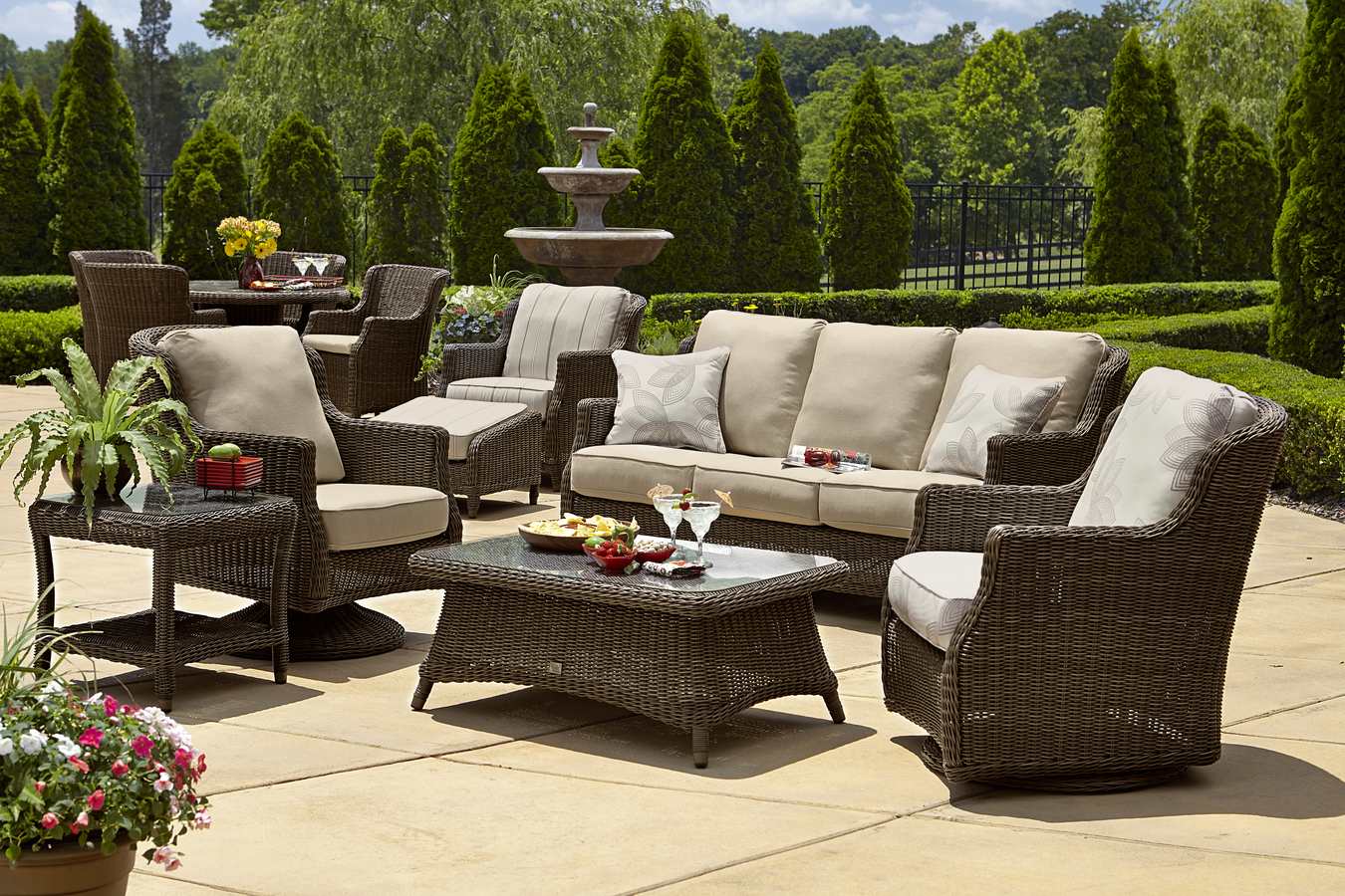 Rattan Seating Group brighton outdoor patio wicker furniture | 9858 by beachcraft GYIBWCQ