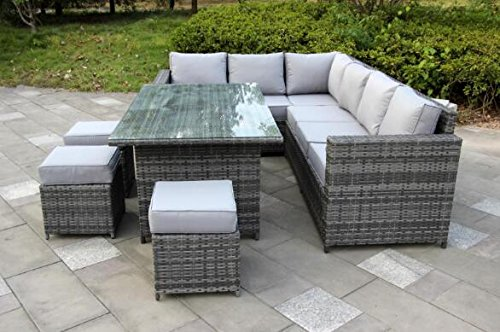 yakoe conservatory 9 seater outdoor rattan garden furniture regarding wiker  designs FENXUUI