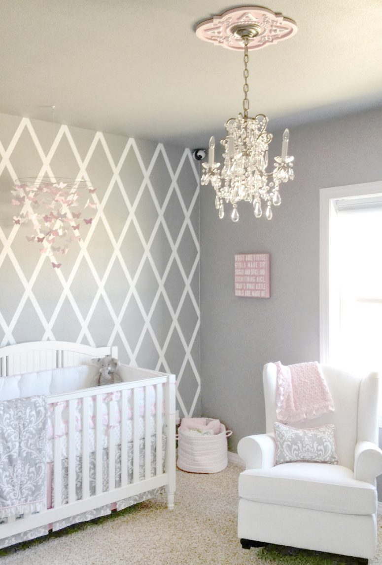 Baby girl room design ideas grey baby girl room ideas ZGEAGLY