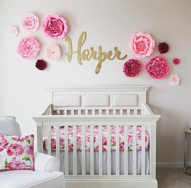 Baby girl room design ideas i love this adorable nursery with a custom name sign! the gold baby name  sign FGOLNTP