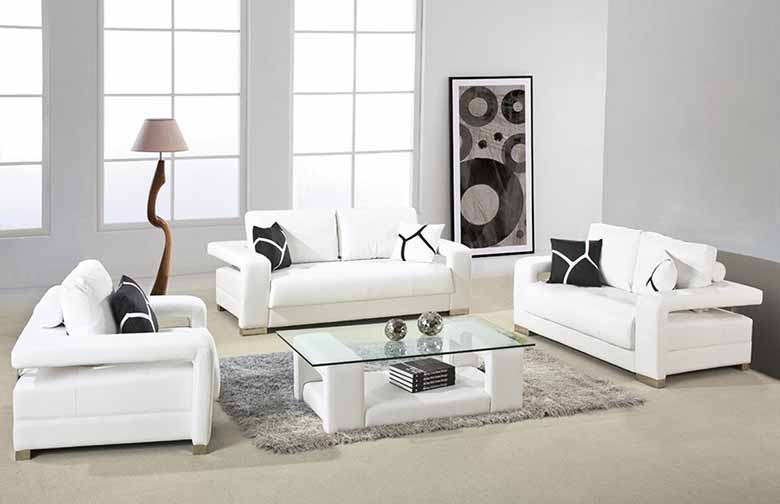 factors to consider when using white living room furniture PSXGAUQ