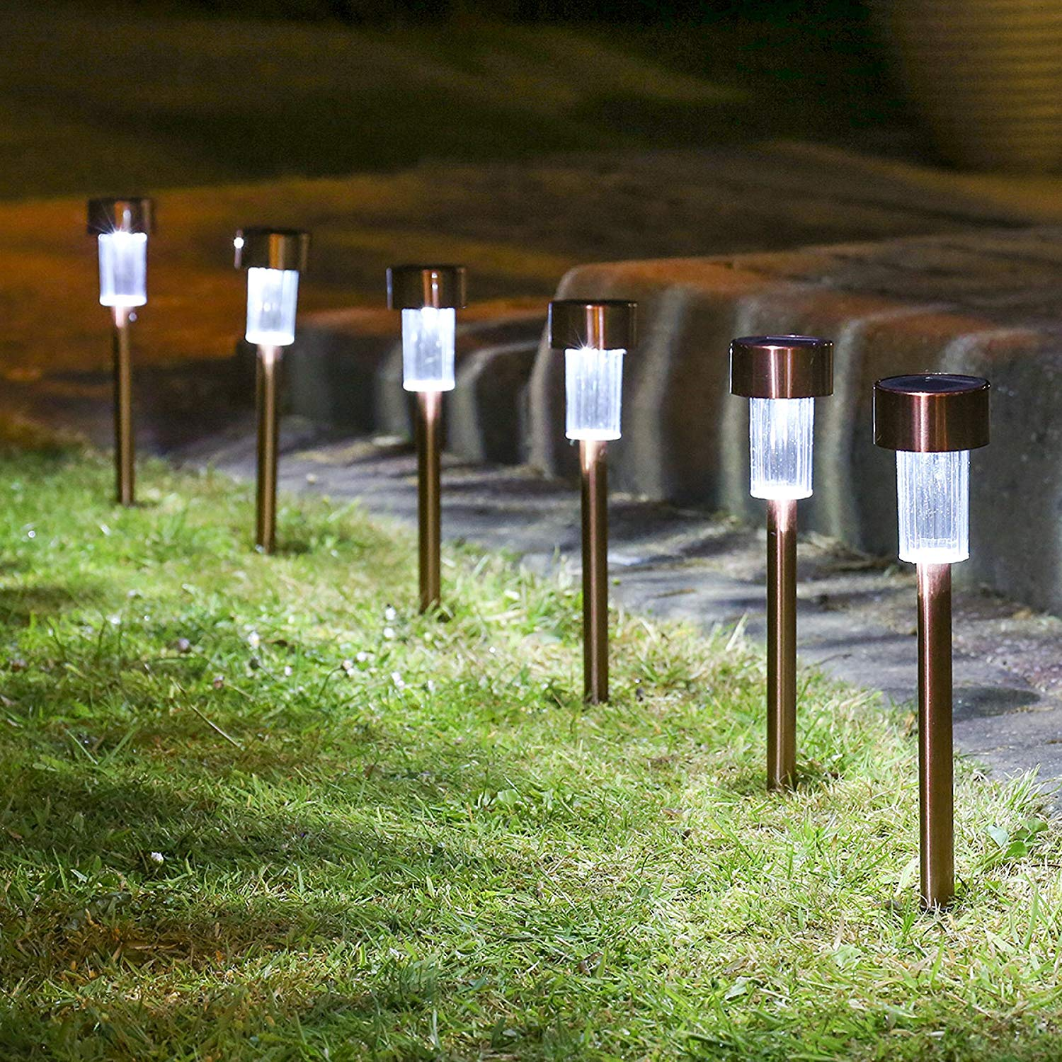 Garden Lights ... solar lights outdoor, stainless steel, solar light, landscape lighting,  solar pathway lights, for lawn, TNLFPFB