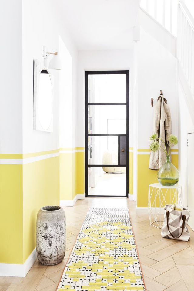 hallway decorating ideas style inspiration: sunshines shades - yellow. styled by lorraine dawkins. HMJZDLP