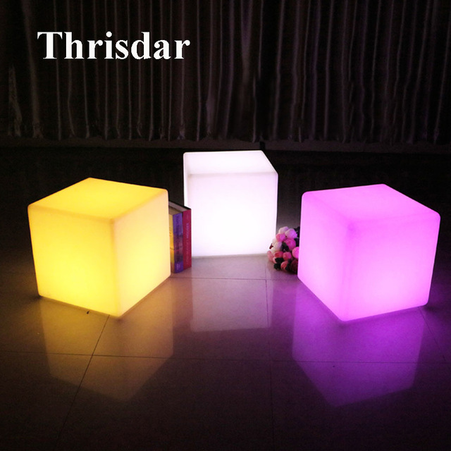 Illuminated furniture rgb rechargeable led illuminated furniture remote control outdoor led cube  chair bar ktv pub plastic PCVCDTI
