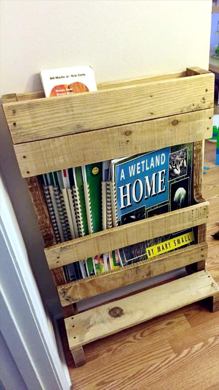 Magazine rack and bookshelf diy pallet magazine rack / bookshelf | 99 pallets IVCKZWG