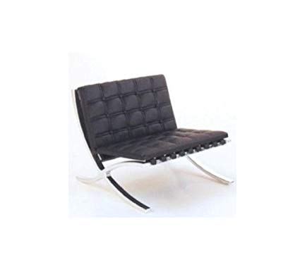 modern design chair mid century modern design miniature 1/12 mr90 barcelona chair-black BFKQWFW