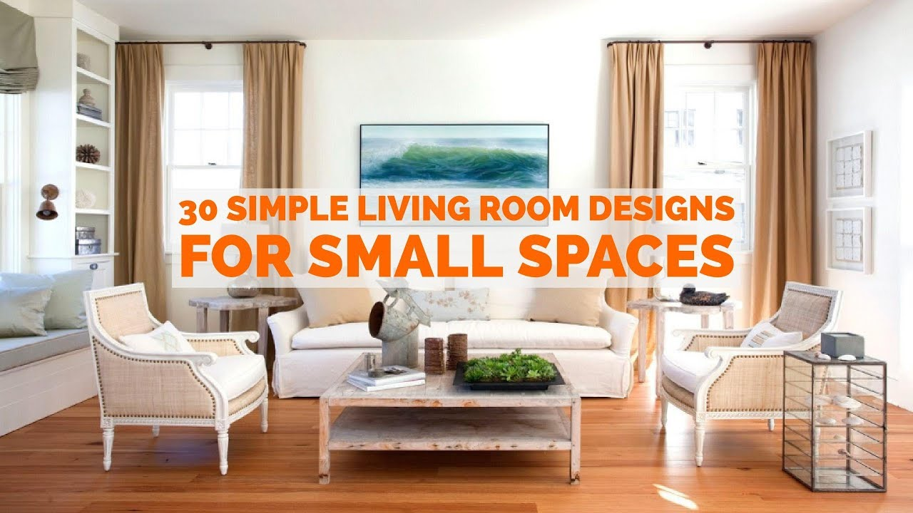 modern living room design for small house 30 simple living room designs for small spaces - youtube XMNVWPI