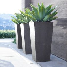 modern planters ideas 30+ pretty front door flower pots for a good first impression JXHIVCX