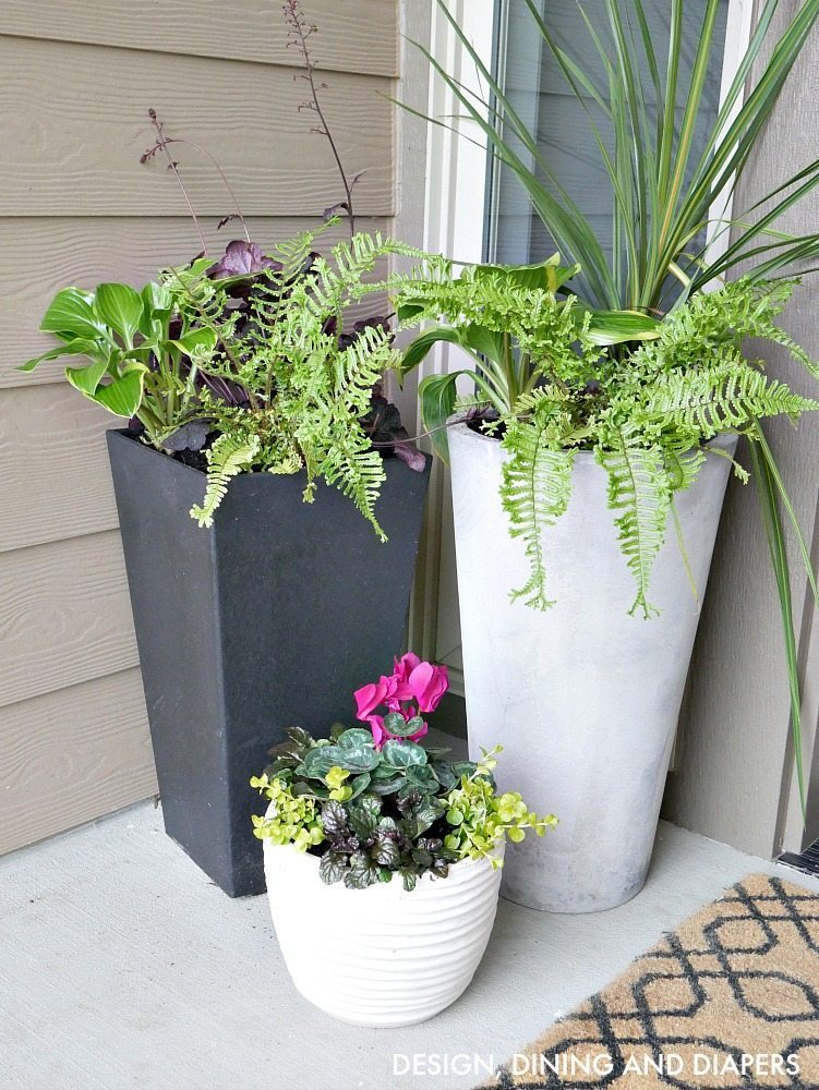 modern planters ideas modern contemporary planters for front porch with tropical flowers ABLNEVA