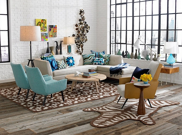 Retro Style living room fabulous living room with a cool collection of vases EKALWIJ