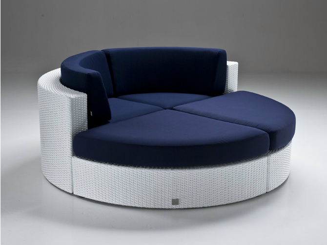 Round sofa bahia indoor-outdoor round couch TFQDEIT