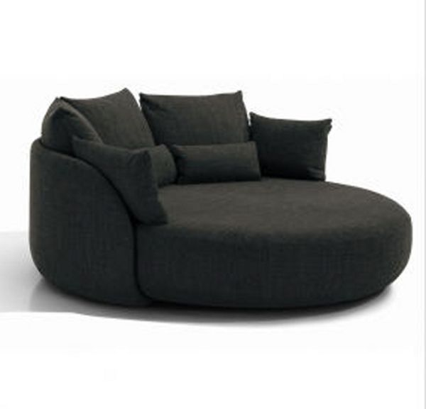 Round sofa black circle chair oversized round lounge chair round lounge sofa black  circle table and chairs GEZARPX