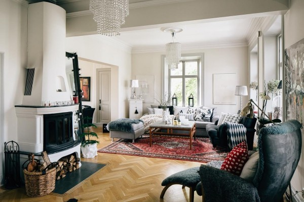 Scandinavian design living room 37 |; source: svenskfast MRRAQZS