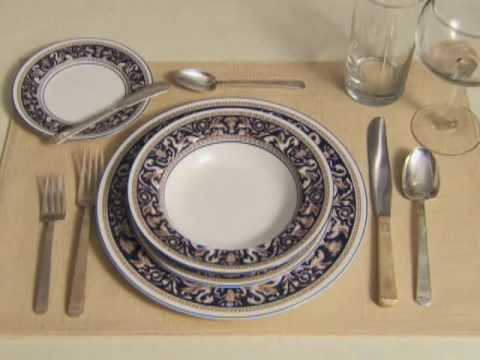 setting a formal table setting - youtube HNPJNOO