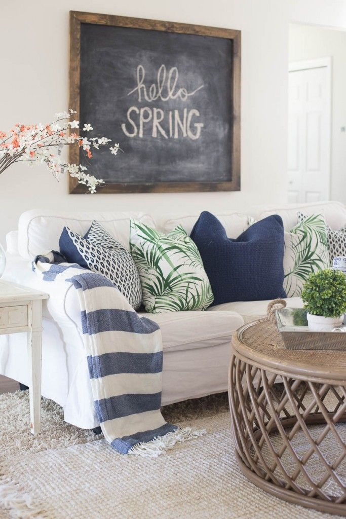 Spring decoration for the living room spring home tour - decorating the living room IQRPEHG