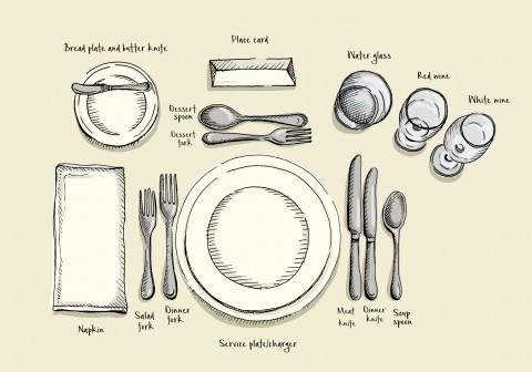 table setting the proper way to set a table, according to mindy lockard, an etiquette and  lifestyle RUKMAFQ