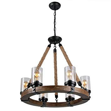 Anmytek C0008 Retro Rustic Antique Ceiling Lamp, Black - - Amazon.com