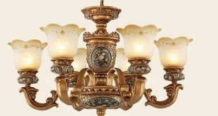 European style Antique chandeliers lamps 6 lights bedroom dining