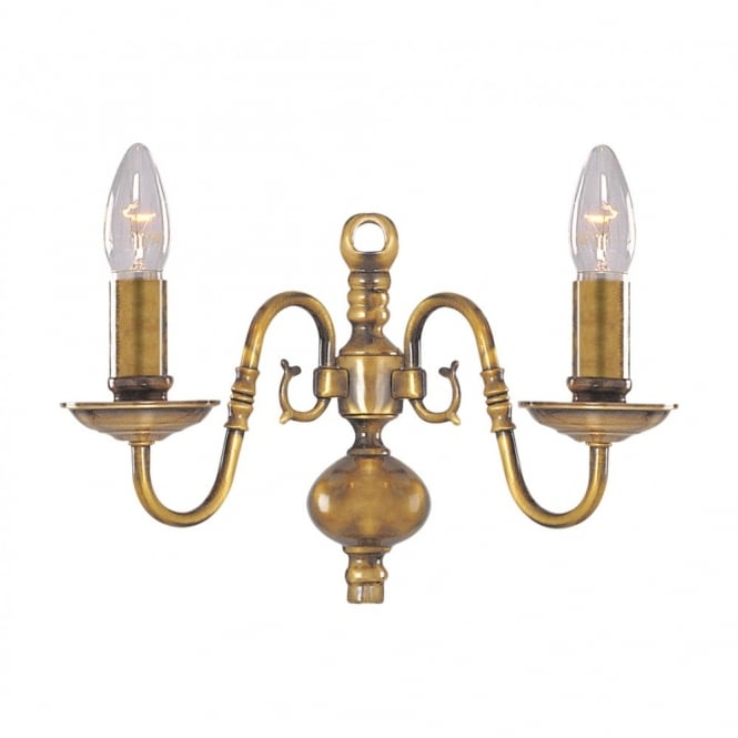 Buy Flemish Traditional Antique Brass Wall Light.