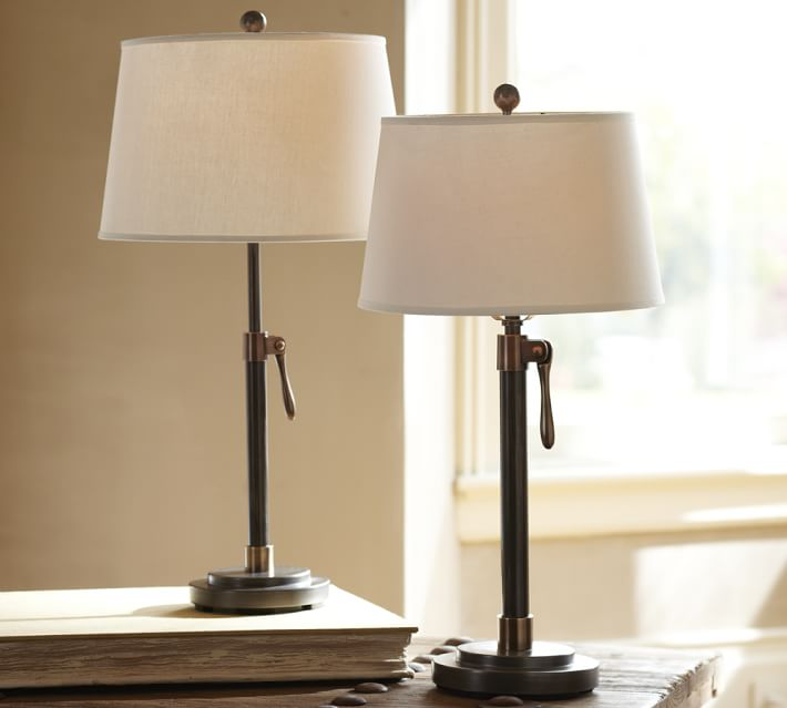 Sutter Adjustable Lamp Base | Pottery Barn