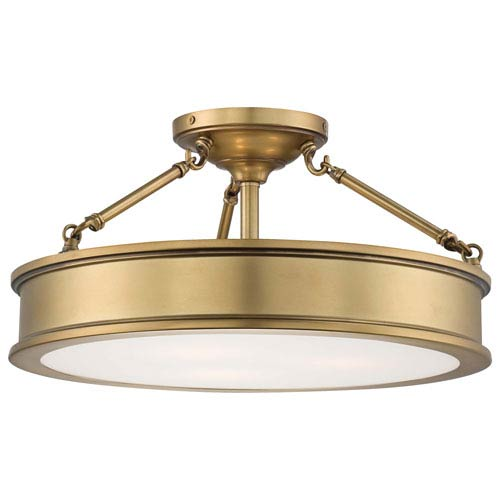 Minka Lavery Harbour Point Three Light Semi Flush Mount In Liberty